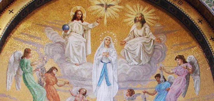 Mosaique de Lourdes: Assomption de Notre Dame