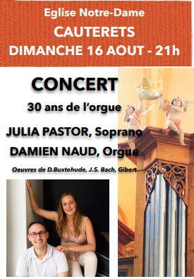 Affiche Concert 16 aout 2020