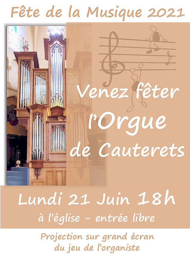 Fete de la Musique: Concert Orgue lundi 21 juin 18h