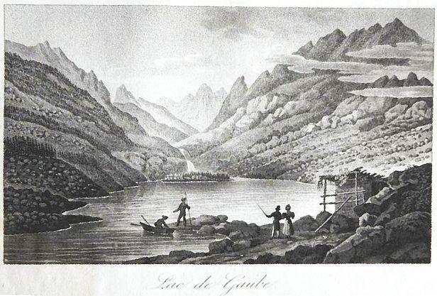 Gravue de Perrot Lac de Gaube